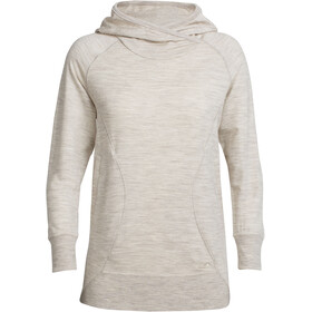Icebreaker Dia Pullover Hoody Women Fawn Heather